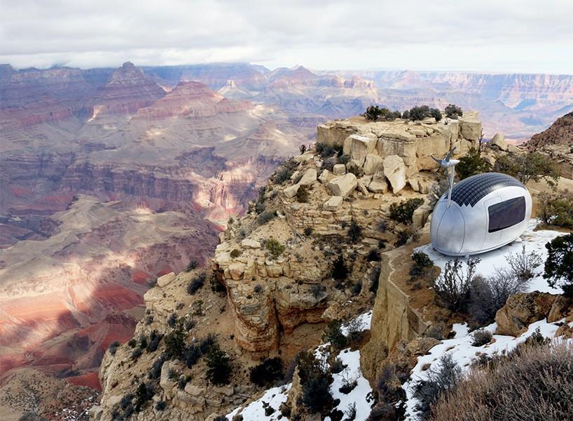 Экокапсула на вершине горы