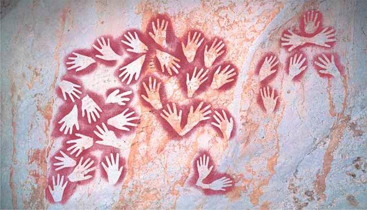 Ученые до сих пор изучают. Панно в верхней галерее в пещере Гуа Масри II (Борнео). Photo Luc-Henri Fage © Le Kalimanthrope