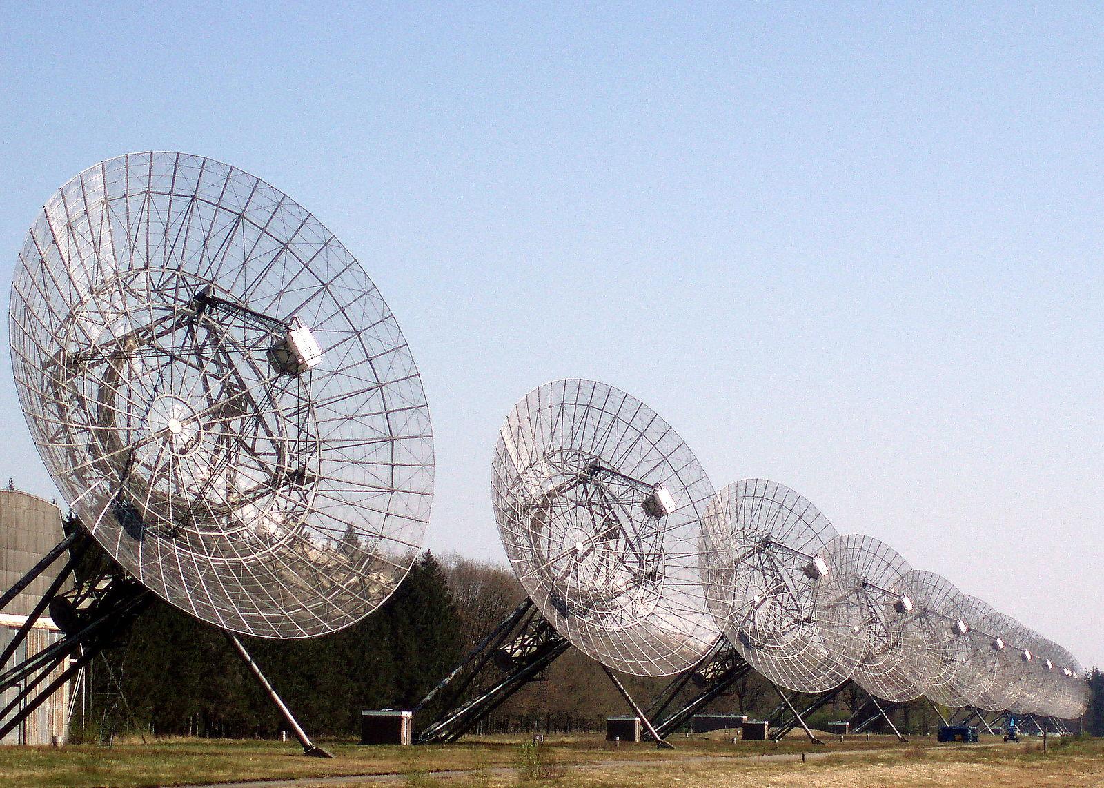 Радиоинтерферометр ВСРТ в обсерватории Вестерборк (Нидерланды)