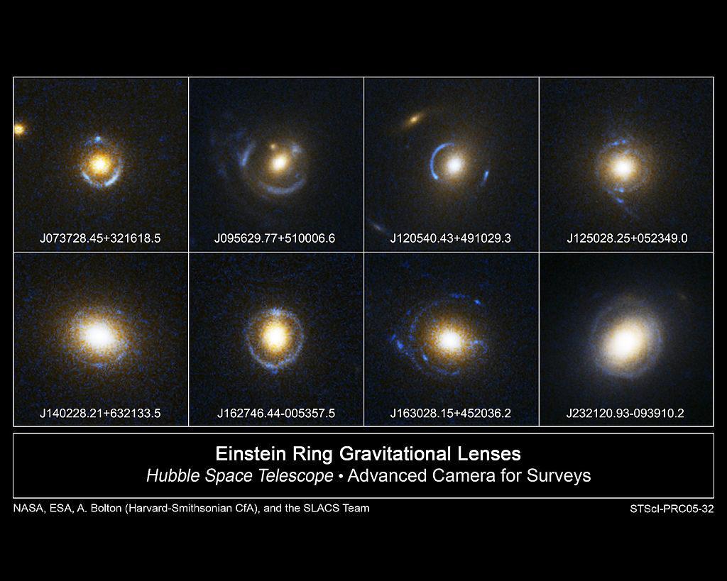 Кольца Эйнштейна. Гравитационное линзирование. Автор: NASA
