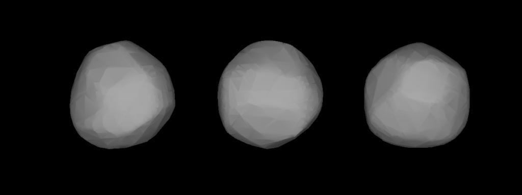 Трехмерная модель астероида (24) Фемида