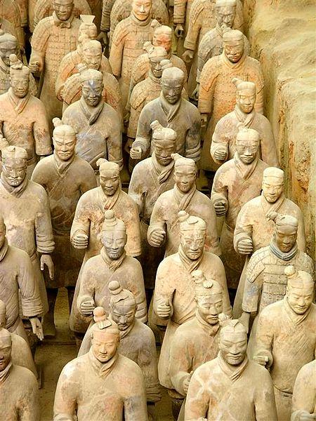 Терракотовая армия древнего Китая