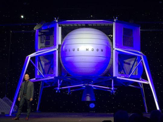 9 мая 2019 года в Вашингтоне, округ Колумбия, был открыт лунный посадочный аппарат Blue Moon. Фото: Doyle Rice, USA TODAY