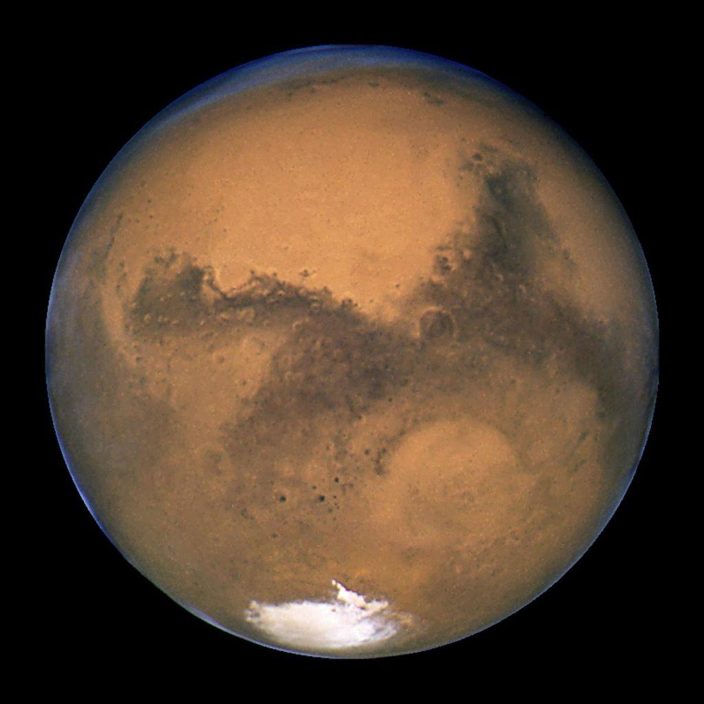 Планета Марс. Автор: NASA, ESA, and The Hubble Heritage Team (STScI/AURA) [Public domain]