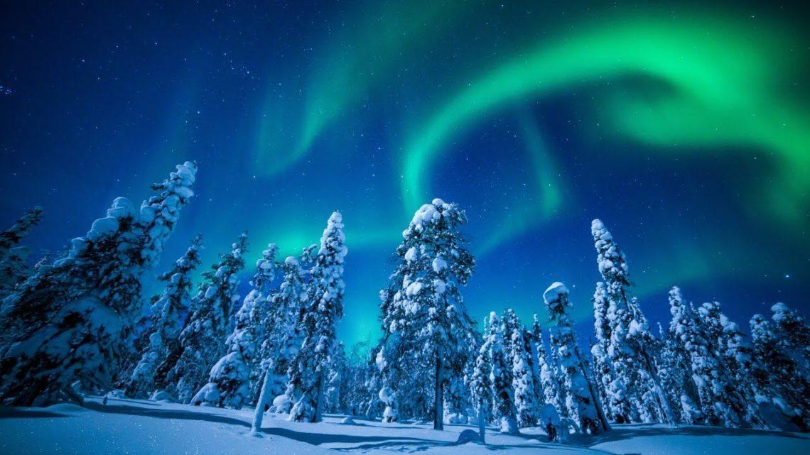 Красота Северного сияния в Финляндии