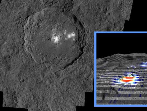 Ахуна Монс, криовальный купол на Церере. Автор: NASA / JPL-Caltech / UCLA / MPS / DLR / IDA