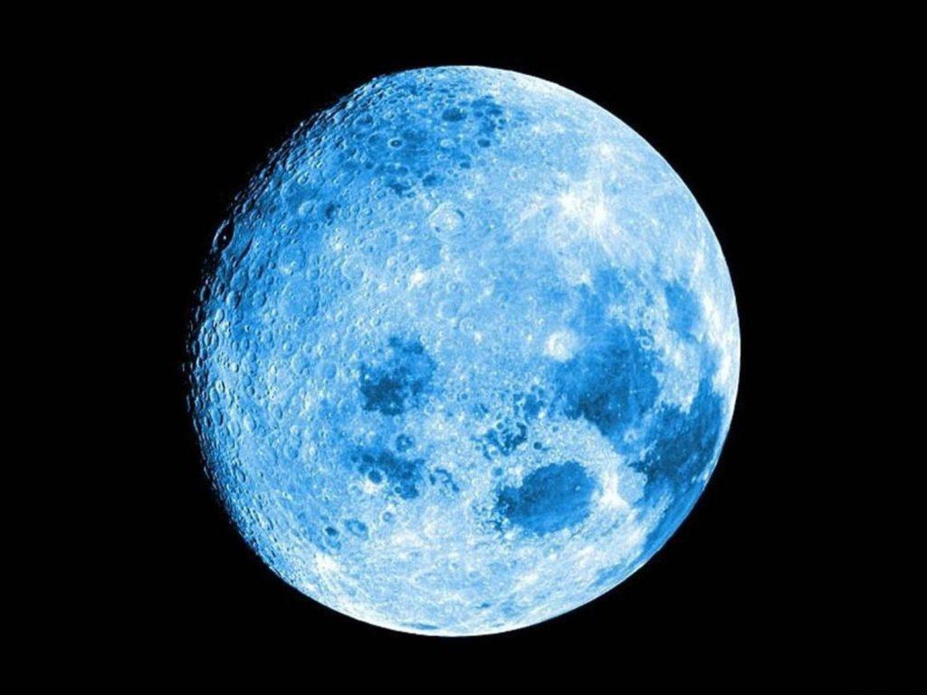 Голубая луна 31/07/2015 года. Взгляд на Луну над европейской частью России.