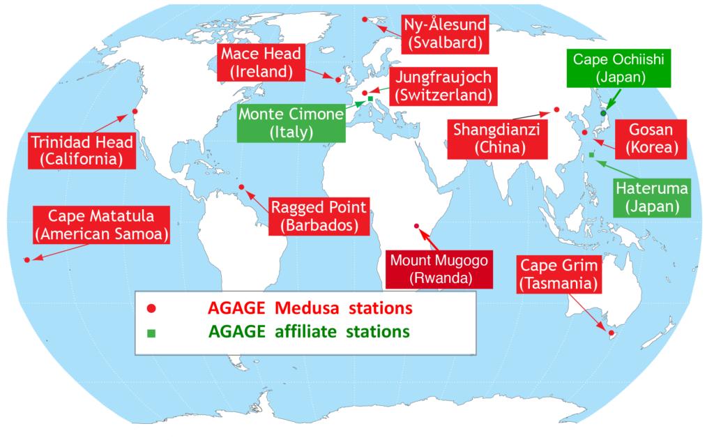 Сеть мониторинга озонового слоя AGAGE