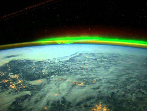 Полярное сияние на Земле
