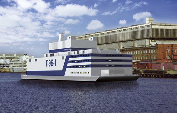 ПАТЭС Академик Ломоносов -плавучие атомные электростанции. Автор: Севмаш
