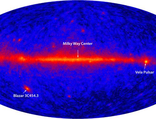 Расположение пульсара в галактике Млечный Путь