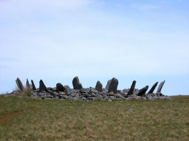 Кромлех на севере Уэльса. На дне