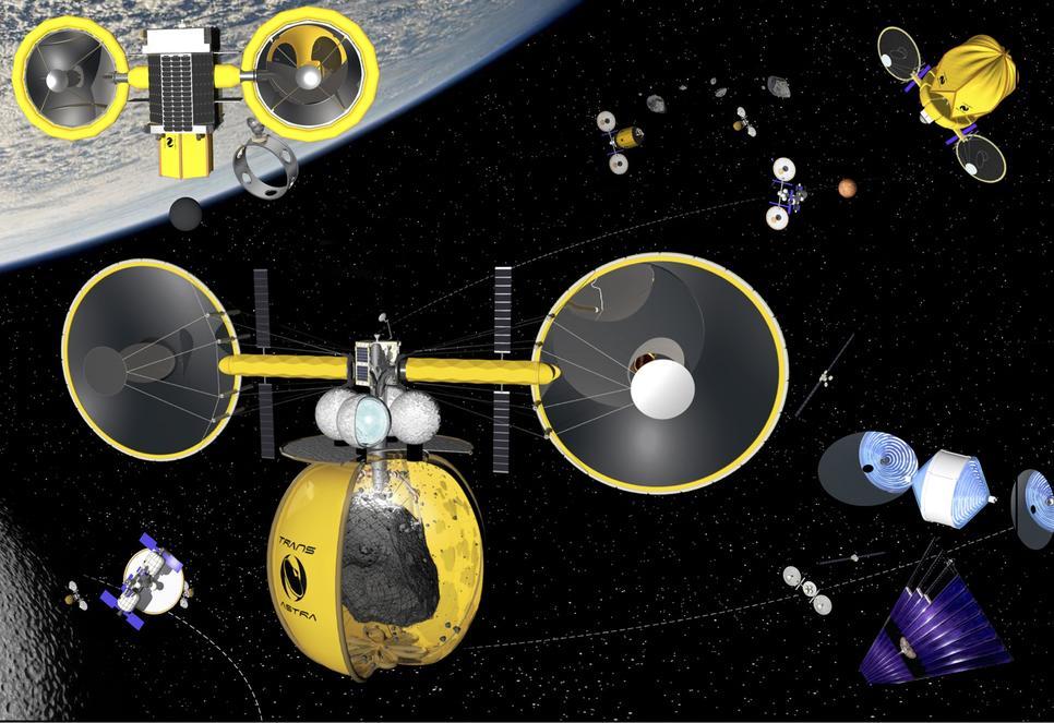 Технологии от TransAstra для скачивания ресурсов из астероидов