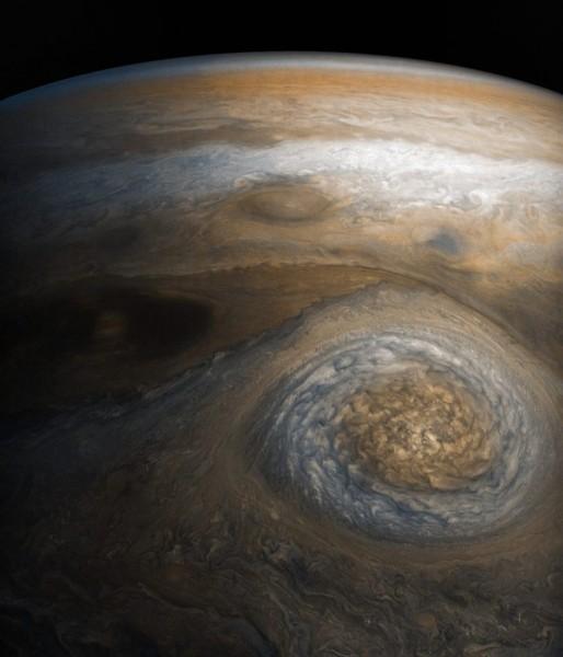 Вид на Юпитер