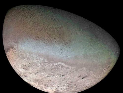 Тритон - самый крупный спутник Нептуна