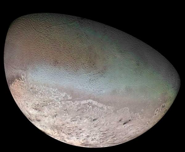 Тритон. Снимок аппарата «Вояджер-2»