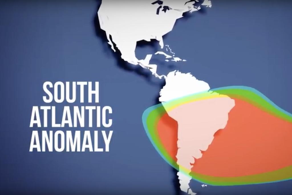 Южно-Атлантическая аномалия где спутник чаще всего выходят из строя