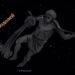 Созвездие Водолей, изображающее юношу, льющего воду в рот рыбе